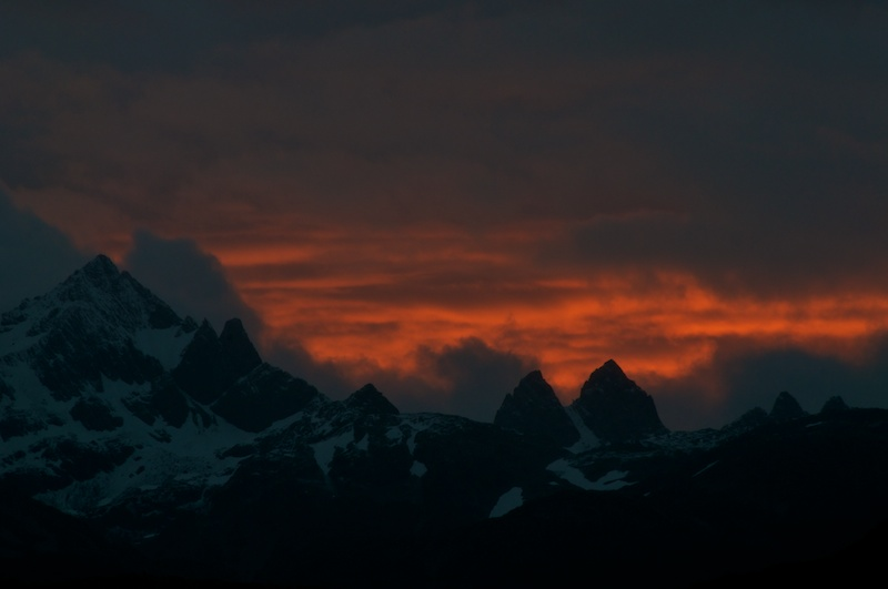 Sunset over the Dientes de Navarino