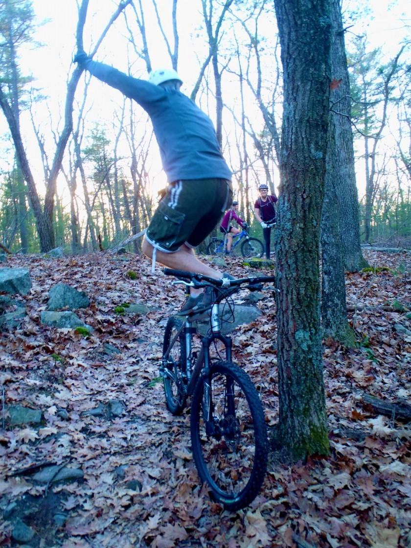 Adam balancing on his bike