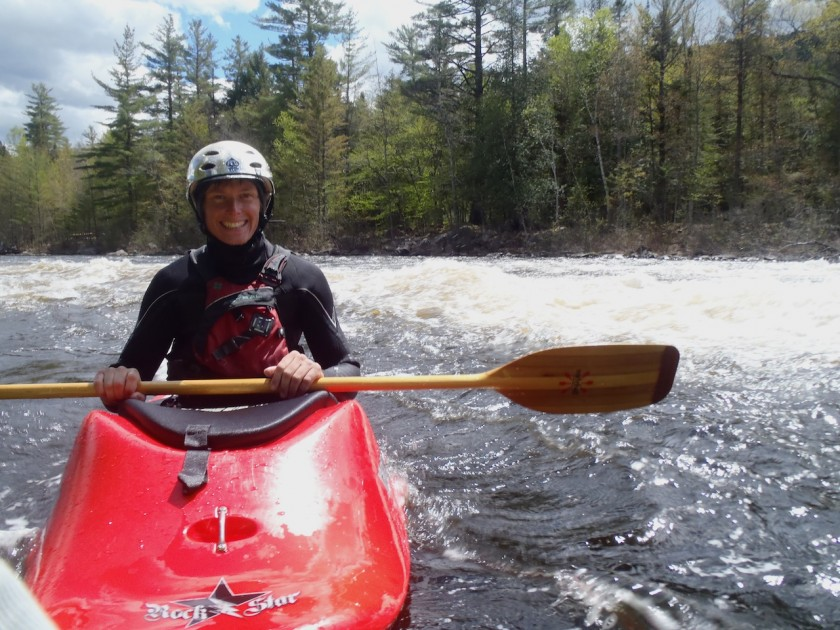 Jeff floating around in the eddy at Big Amberjackmockamus on the West Branch of the Penobscot
