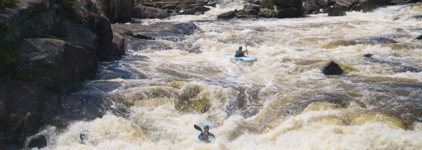 Peter and I running Final Chute in Cribworks on the West Branch of the Penobscot