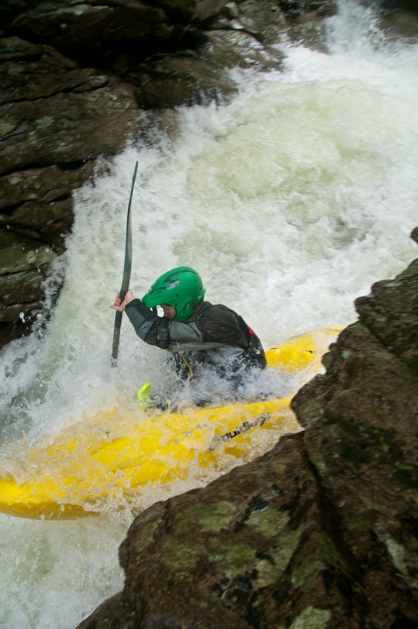 Scott in NO2 Chute on Cold Brook in NH