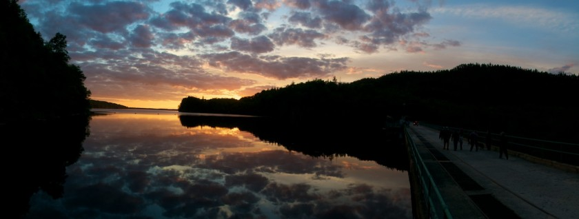 Sunset at Ripogenus Dam on the West Branch of the Penobscot