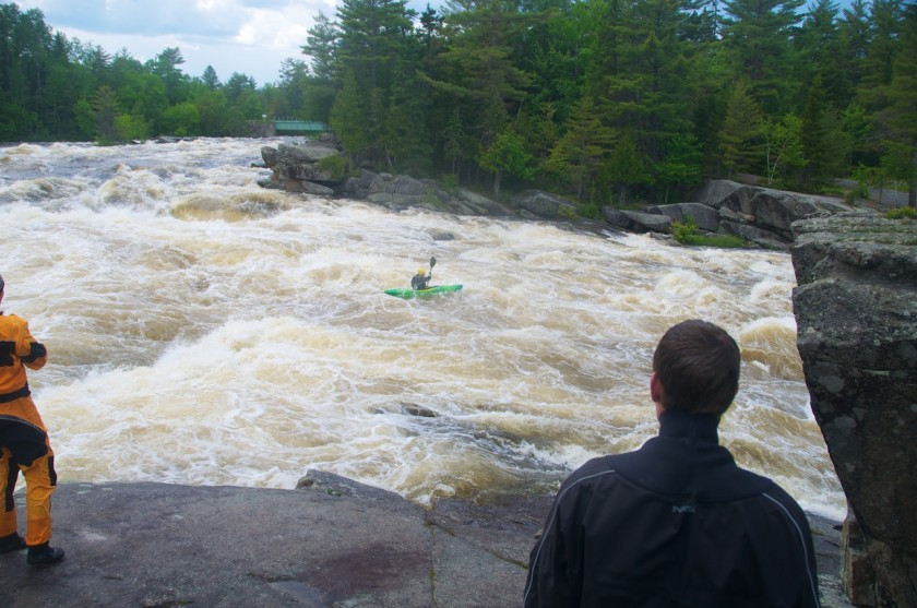 Dangerous Dave running Cribworks at high water on the West Branch of the Penobscot