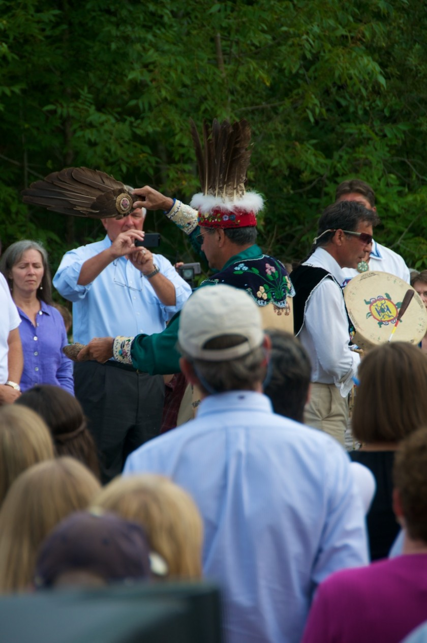 Watching the Penobscot Nation's smoke blessing on the teardown of the Veazie Dam with the Shang-Tu Cabin