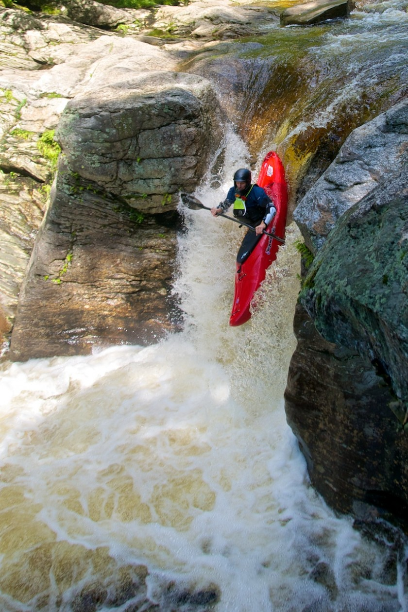 Jeff dropping Frenchman's on the Bull Branch of the Sunday River 2