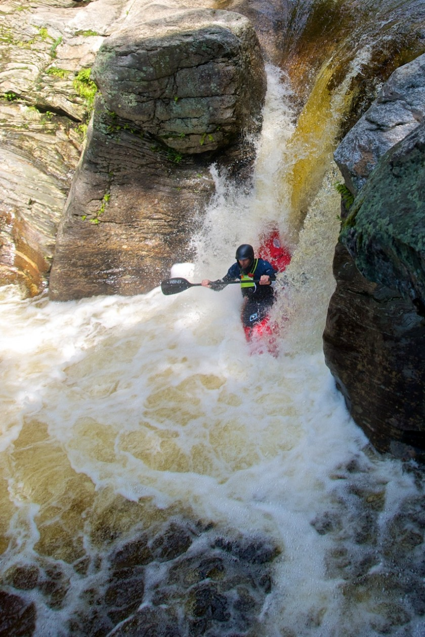 Jeff dropping Frenchman's on the Bull Branch of the Sunday River 3