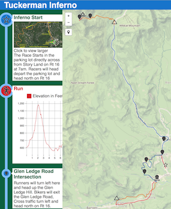 Screenshot of the Tuckerman Inferno course map
