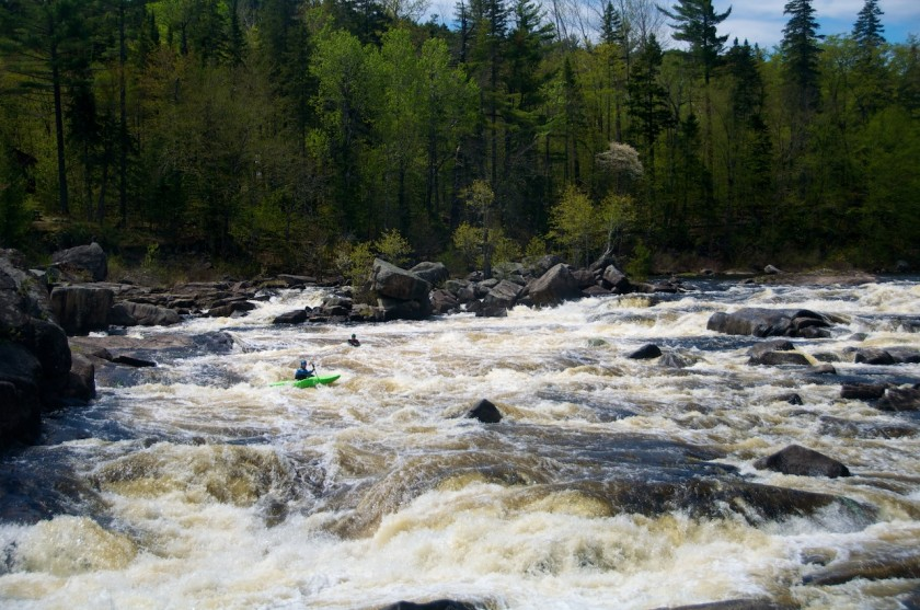 Peter and I running Cribworks on the West Branch of the Penobscot