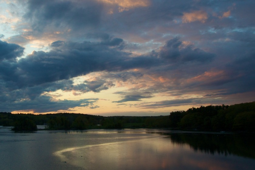 Sunset on the drive back from the West Branch of the Penobscot