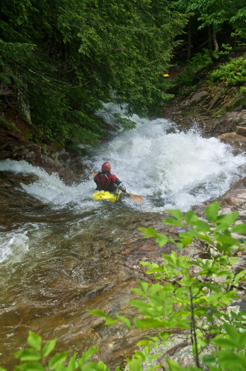 Jeremy entering Particle Accelerator on Cold Brook in NH